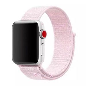 NEW Pearl Baby Pink Apple Watch Sport Loop Band